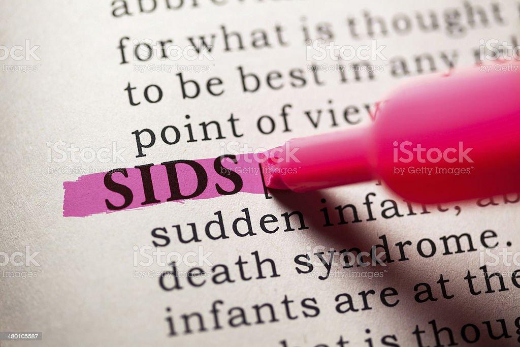 SIDS stock photo