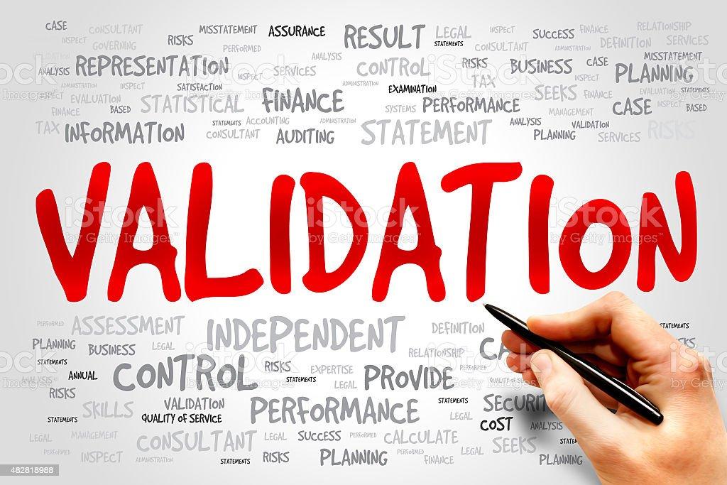 VALIDATION stock photo