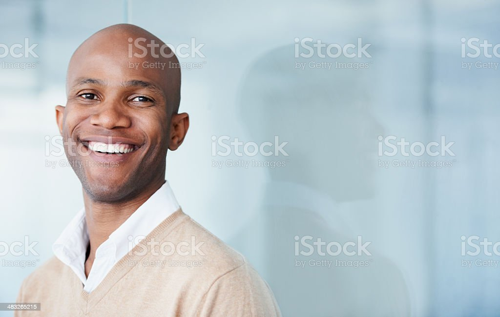 He's got a bright future royalty-free stock photo