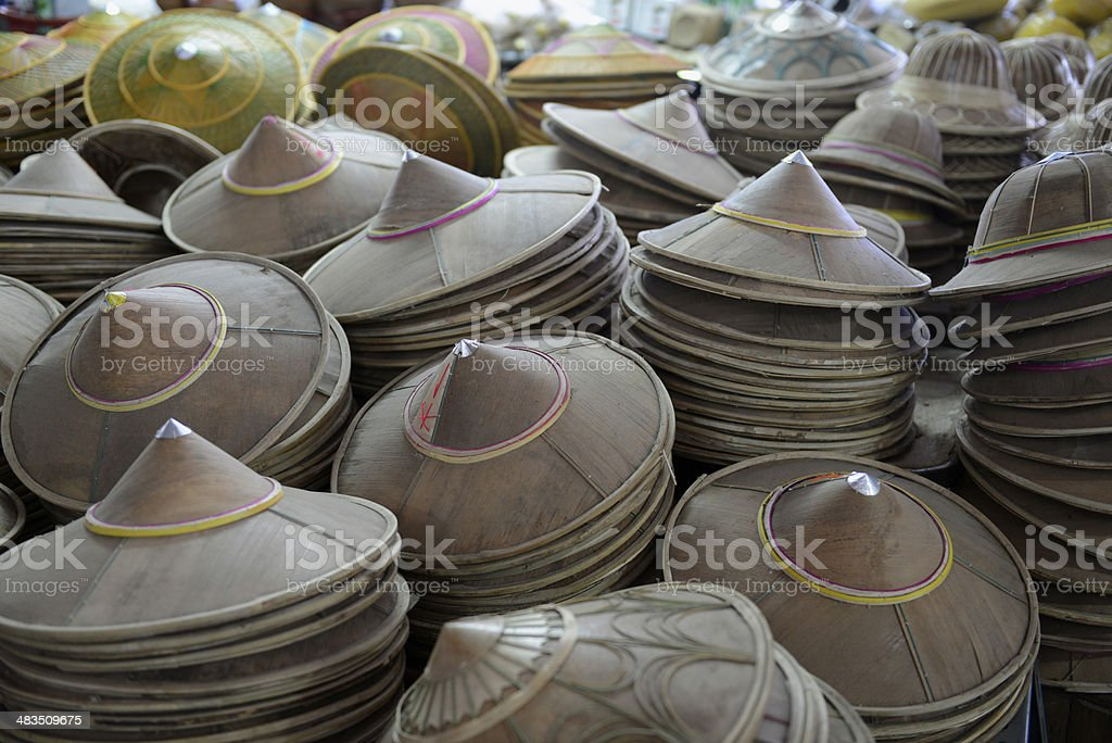 THAILAND MAE HONG SON HAT stock photo
