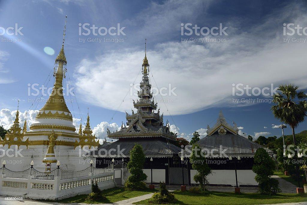 ASIA THAILANDMAE HONG SON TEMPLE stock photo