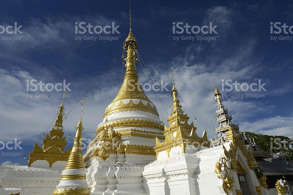 ASIA THAILAND MAE HONG SON TEMPLE stock photo