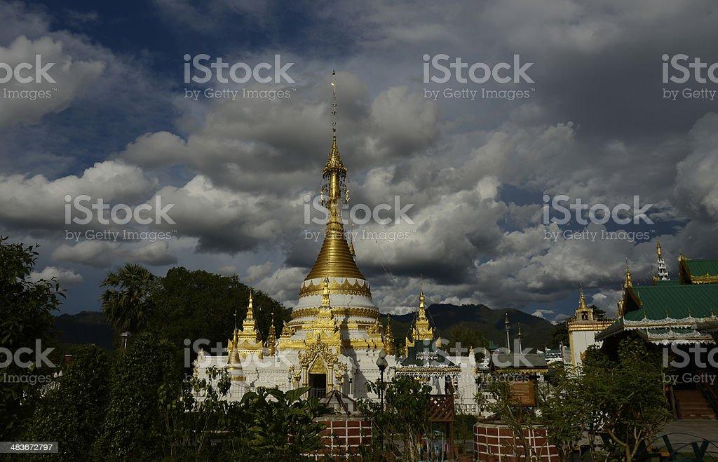 THAILAND MAE HONG SON TEMPLE stock photo