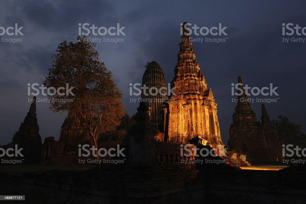 THAILAND AYUTTHAYA WAT CHAI WATTENARAM royalty-free stock photo