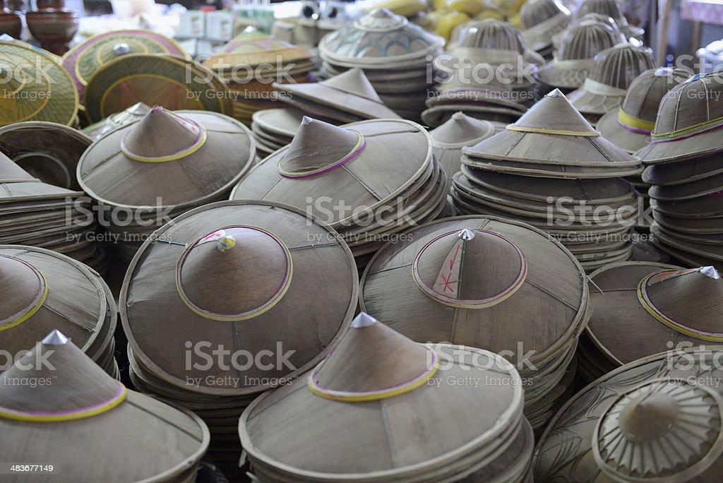 ASIA THAILAND MARKET HAT royalty-free stock photo