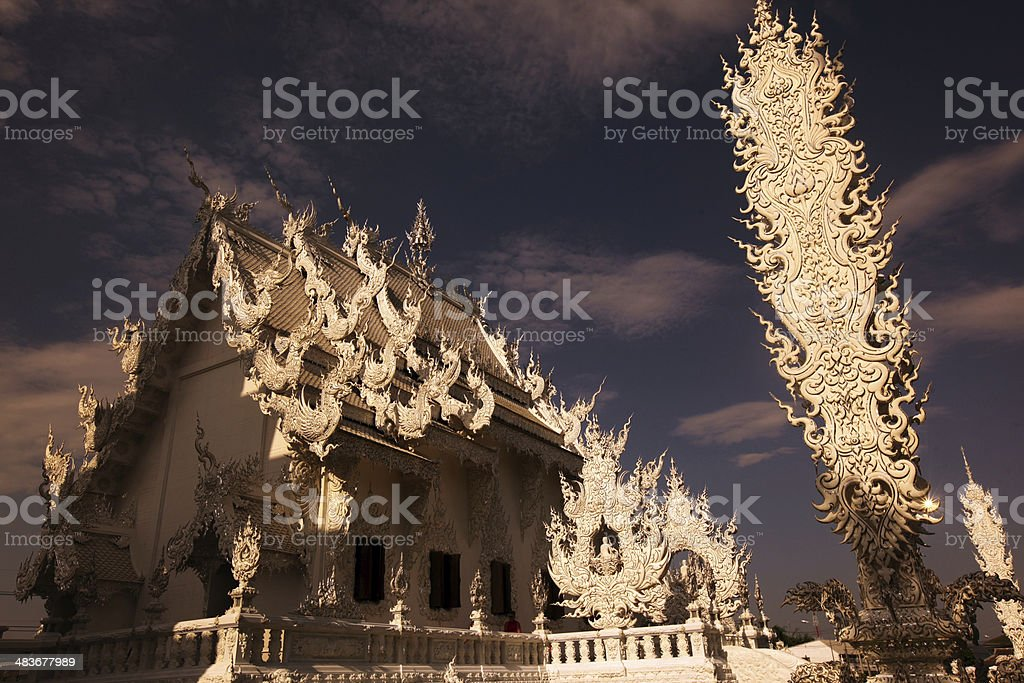 THAILAND CHIANG RAI WAT RONG KHUN royalty-free stock photo