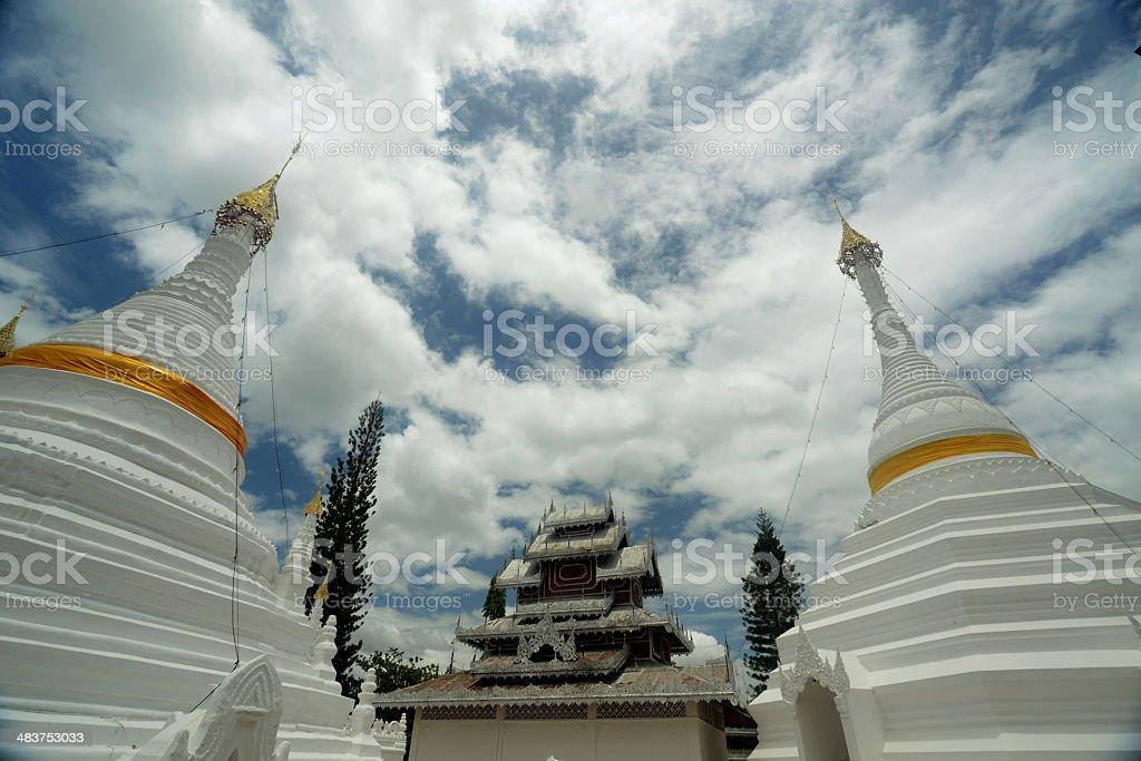 ASIA THAILAND MAE HONG SON TEMPLE royalty-free stock photo