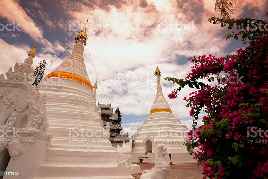 ASIA THAILAND MAE HONG SON TEMPLE royalty-free stock photo