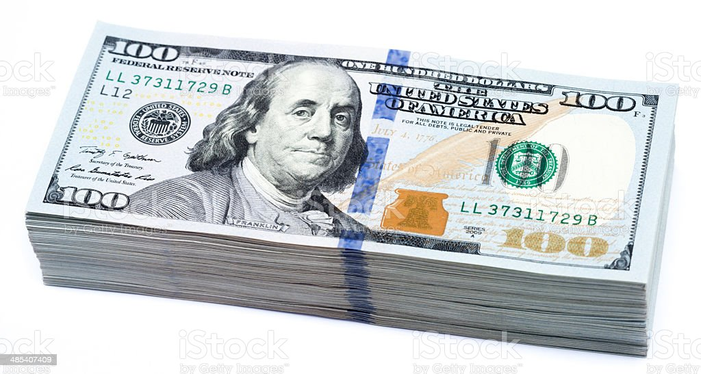 USD100 stock photo