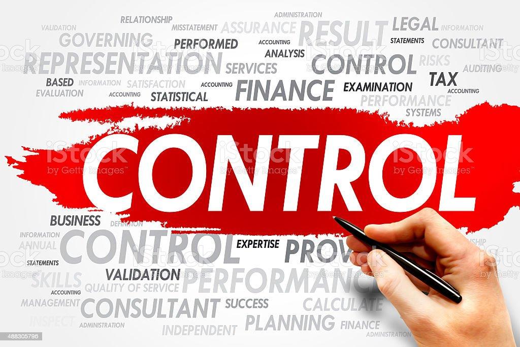 CONTROL stock photo
