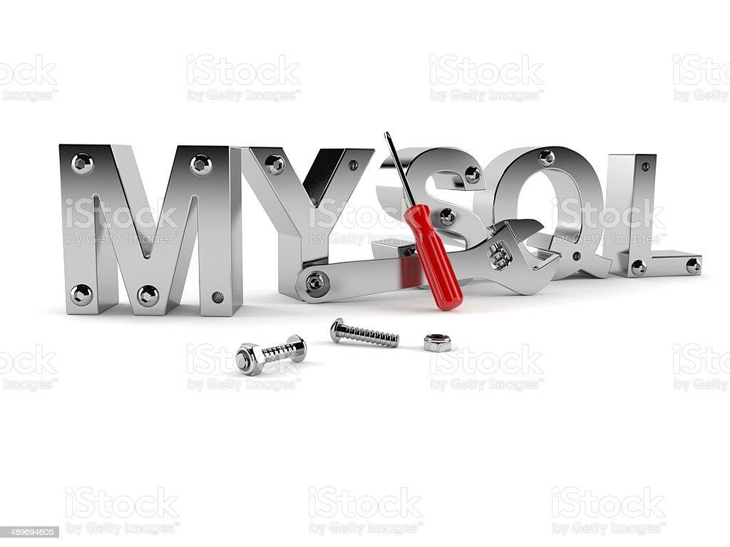 MYSQL royalty-free stock photo