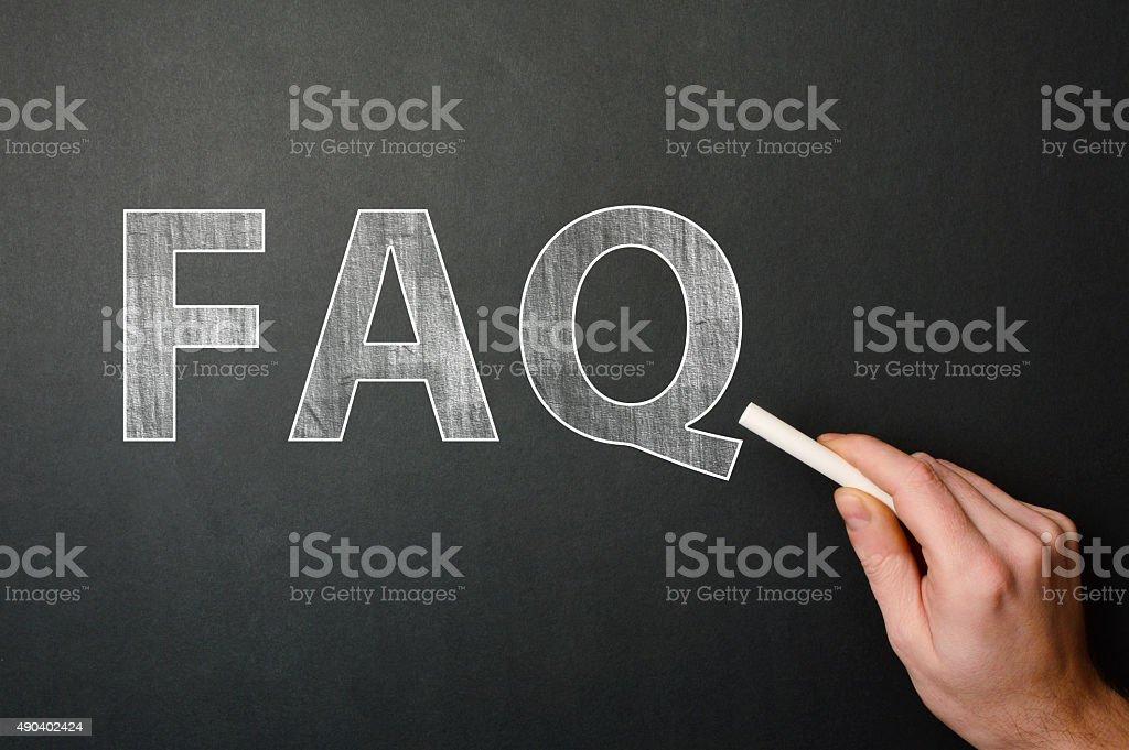 FAQ (Click for more) stock photo