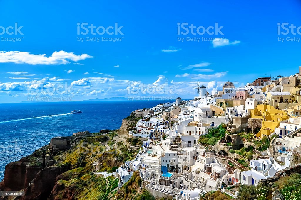 SANTORINI stock photo