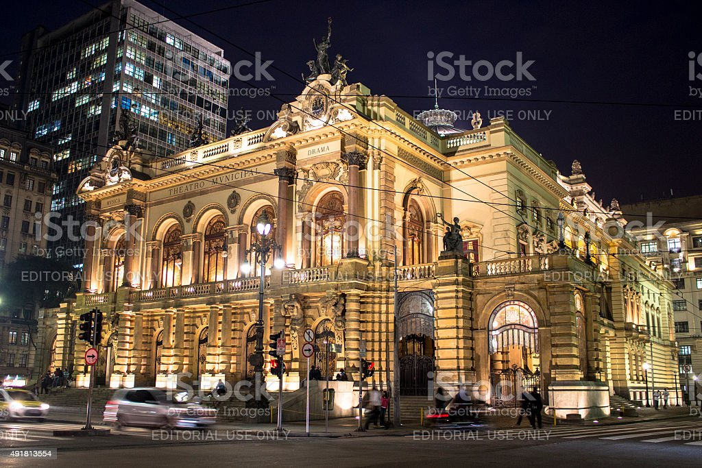 THEATRO MUNICIPAL stock photo