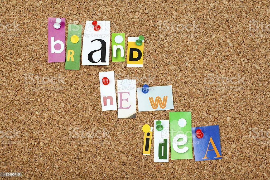 BRAND NEW IDEA royalty-free stock photo