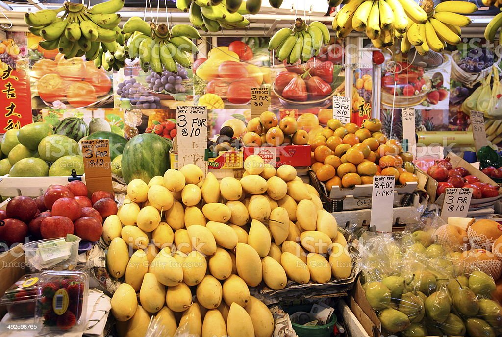 ASIA SINGAPORE FRUIT MARKET ECOTIC FRUITS stock photo