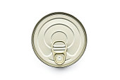 TIN CAN LID TOP ON WHITE