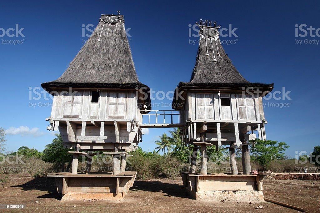 ASIA EAST TIMOR LOSPALOS HOUSE stock photo