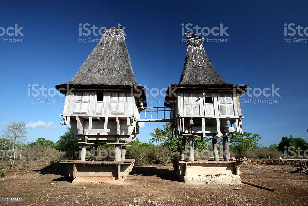 OST TIMOR TIMOR-LESTE LOSPALOS HOUSE stock photo