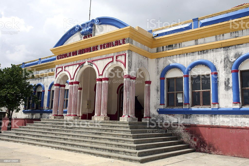 ASIA EAST TIMOR VENILALE COLONIAL BUILDING stock photo