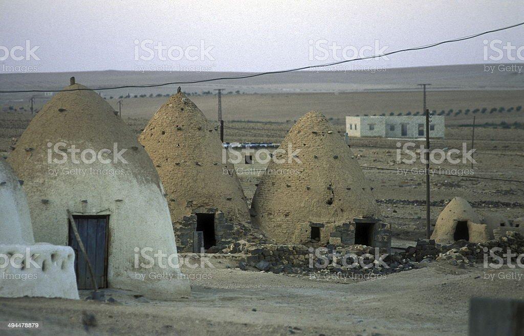 SYRIA SAROUJ TRADITIONAL HOUSE stock photo