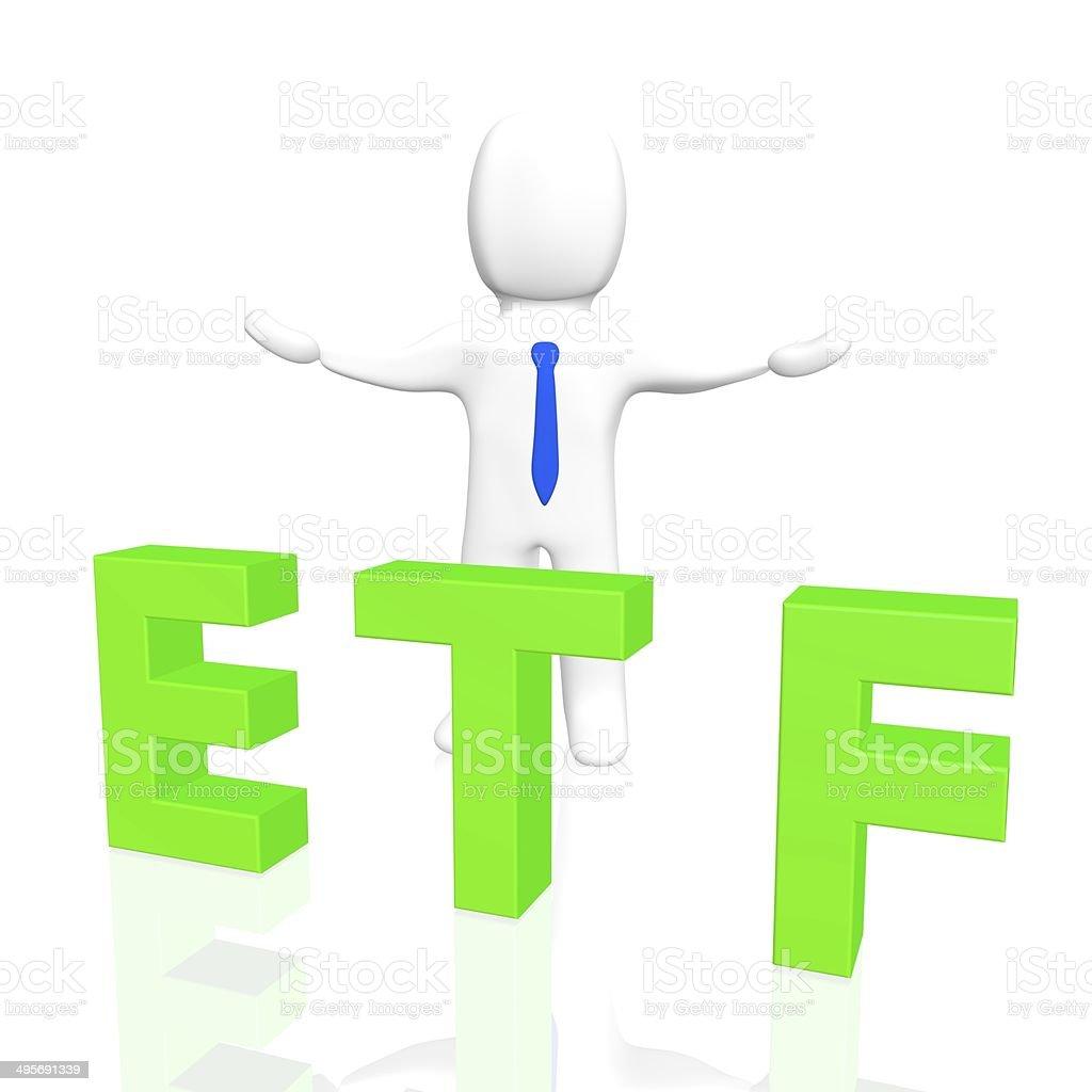 3D ETF stock photo