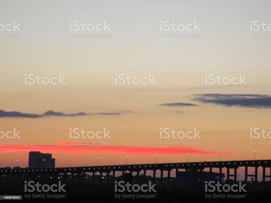 BILOXI BRIDGE stock photo