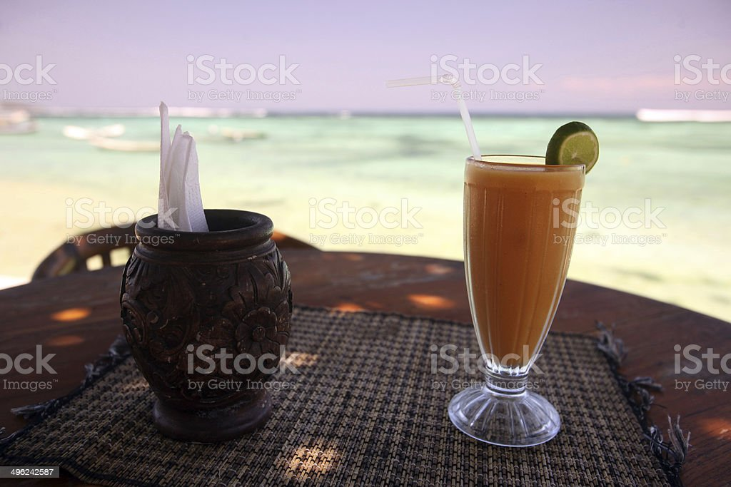 ASIA BALI NUSA LEMBONGAN BEACH DRINKS stock photo