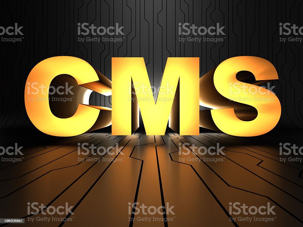 CMS (Content management system) stock photo