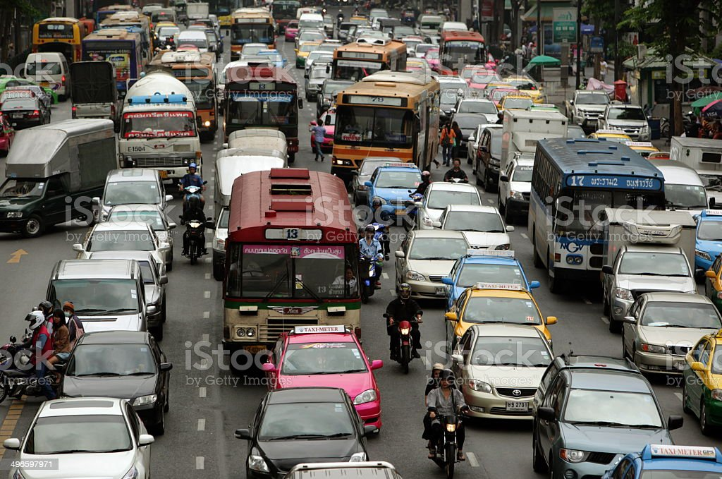 ASIA THAILAND BANGKOK CITY TRAFIC stock photo