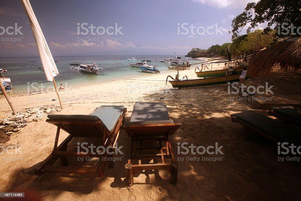 ASIA BALI NUSA LEMBONGAN BEACH royalty-free stock photo