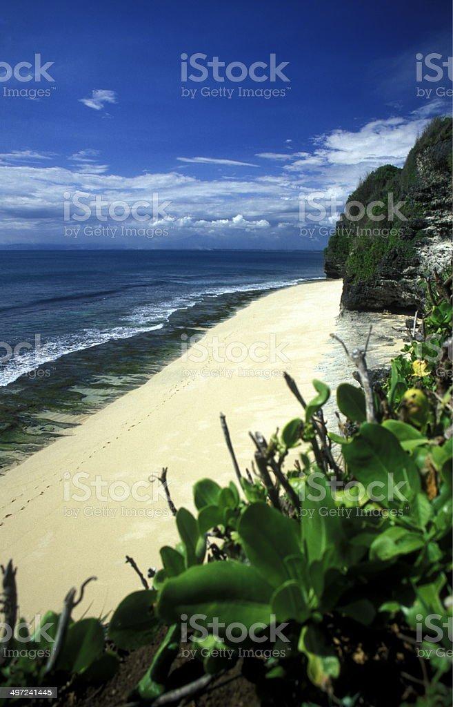 ASIA BALI PARADISE BEACH royalty-free stock photo
