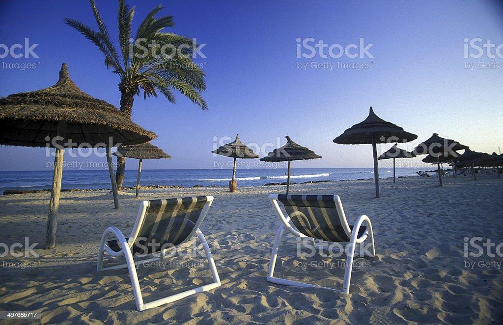 TUNISIA JERBA BEACH stock photo