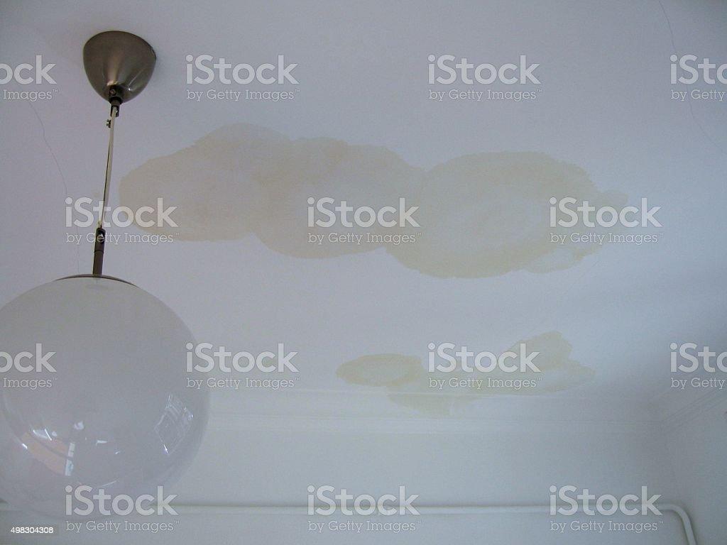LEAK AND GLOBE LAMP stock photo