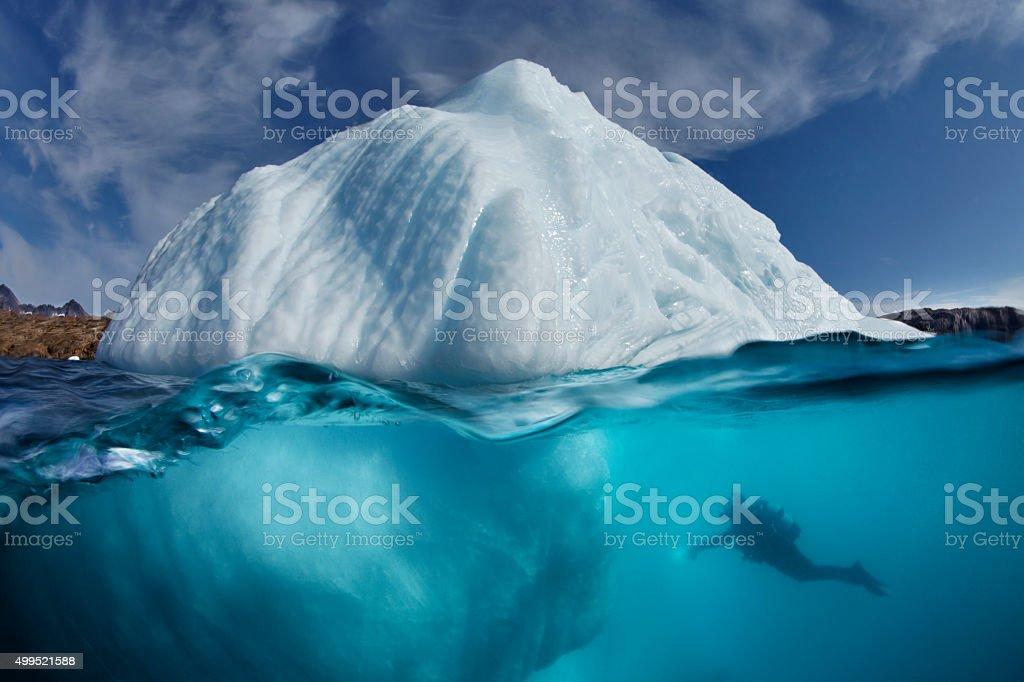 ICEBERG UNDERWATER stock photo