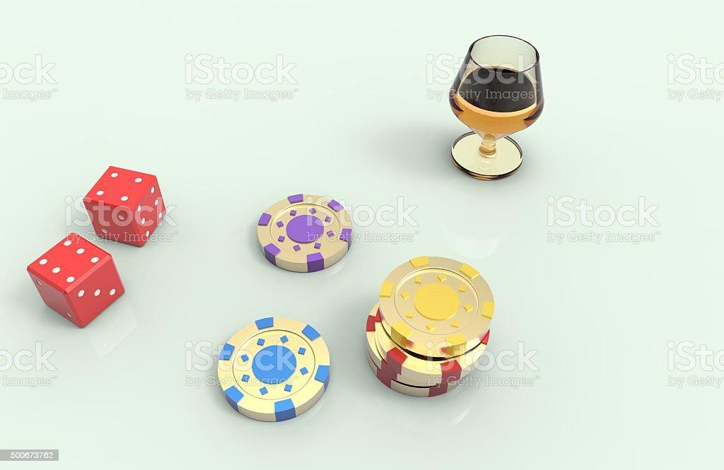 Игра в казино stock photo