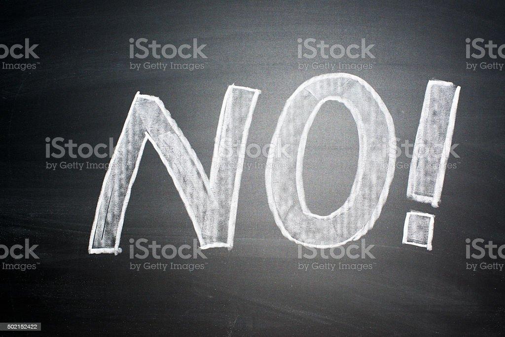 NO! stock photo