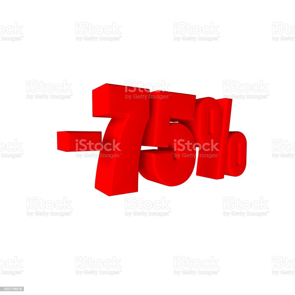 - 75 % stock photo