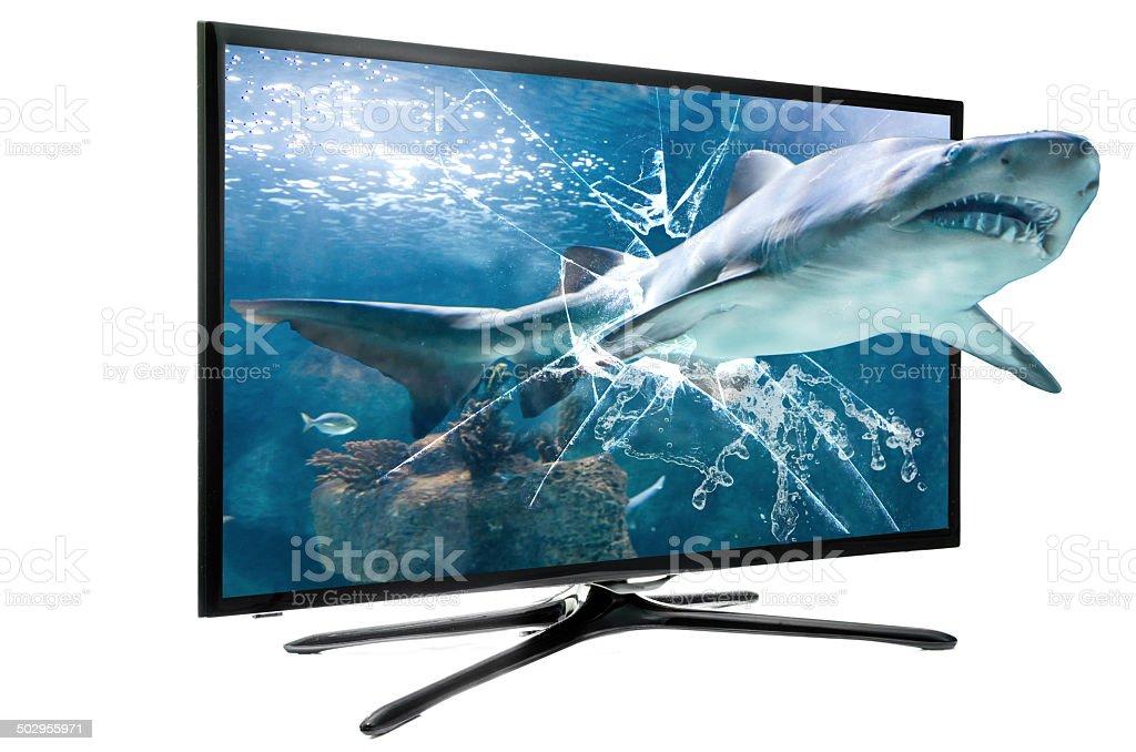 3D LED SMART TV stock photo