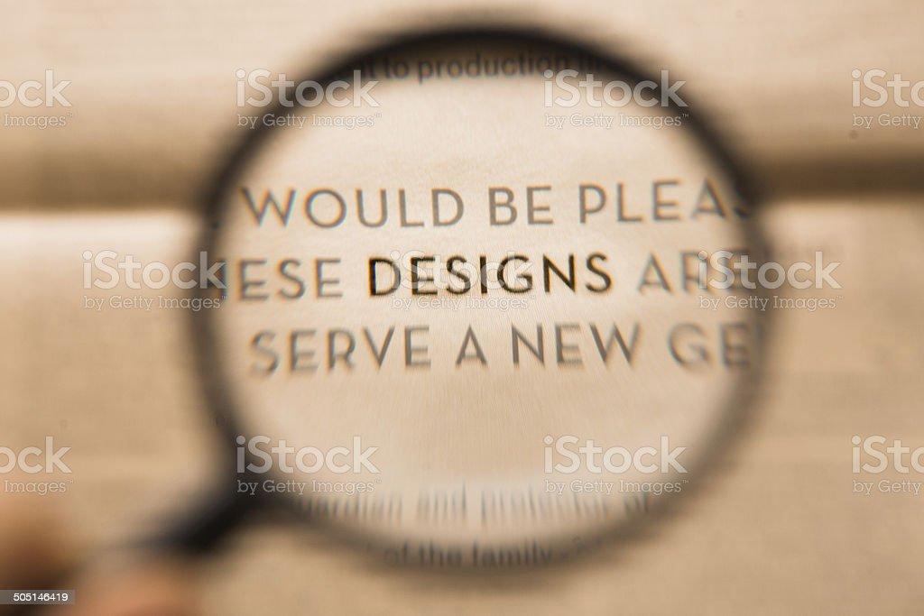 DESIGN royalty-free stock photo