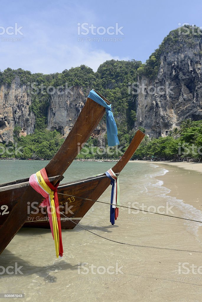 THAILAND KRABI RAIL BEACH stock photo