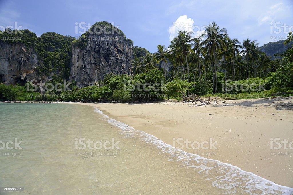 THAILAND KRABI RAILAY BEACH stock photo