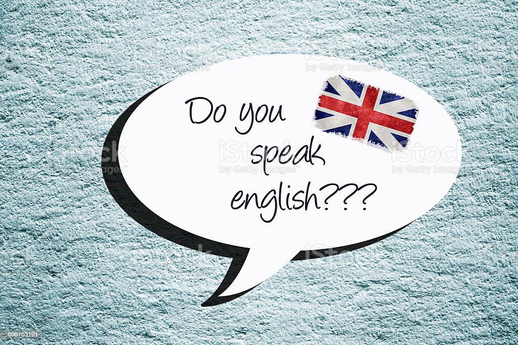 DO YOU SPEAK ENGLISH? stock photo