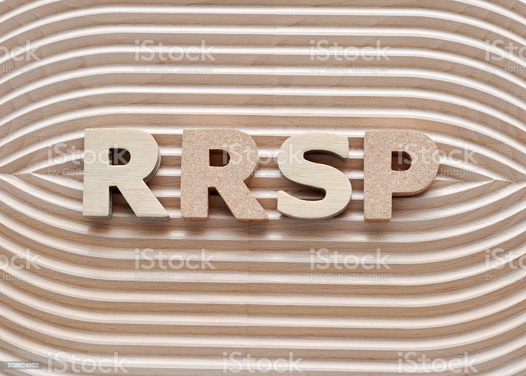 RRSP stock photo
