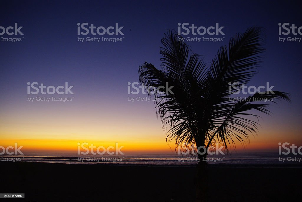 SUNSET IN HUANCHACO PERU royalty-free stock photo