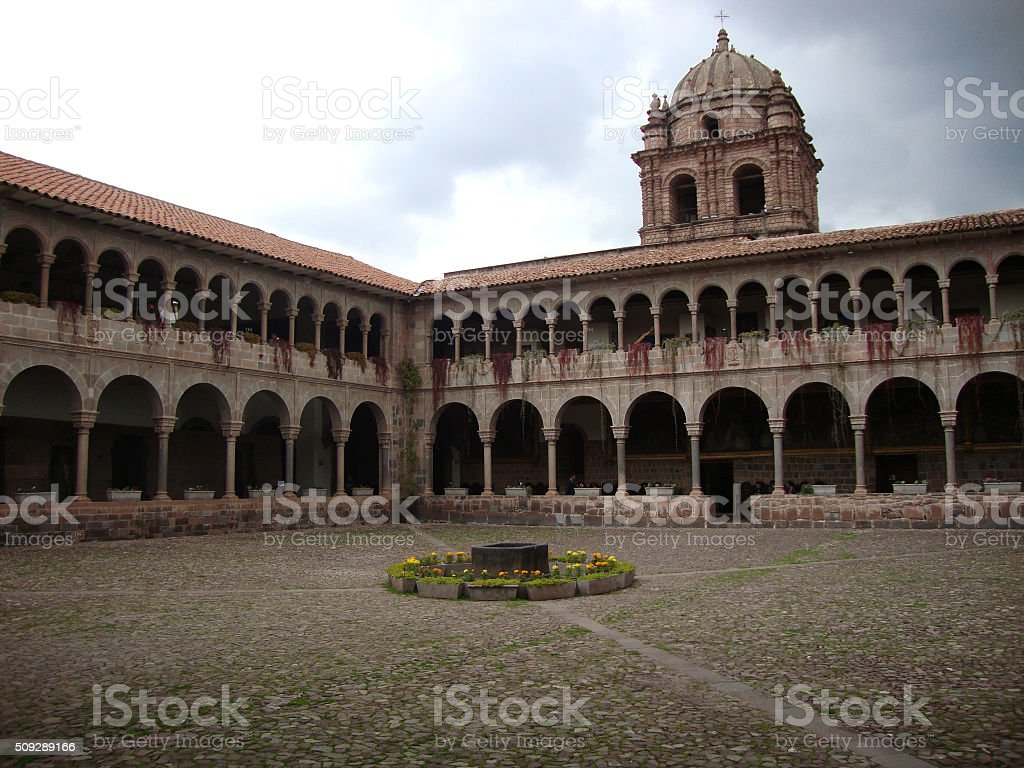 CONVENT IN CUSCO royalty-free stock photo