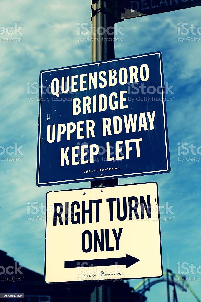 BORD BRIDGE SIGN stock photo