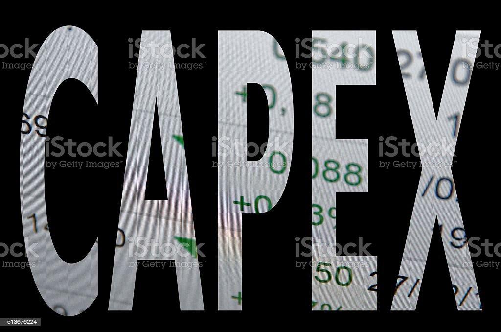 CAPEX stock photo