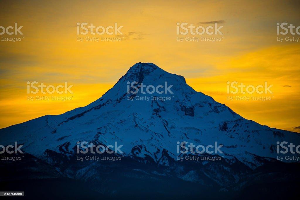 MOUNT HOOD AT SUNSET stock photo