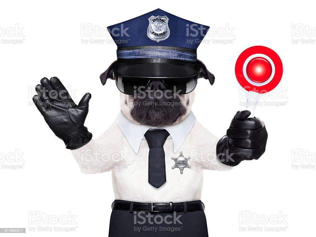 POLICE DOG stock photo